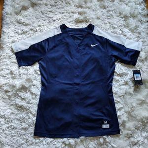 Nike button up softball tee sz M